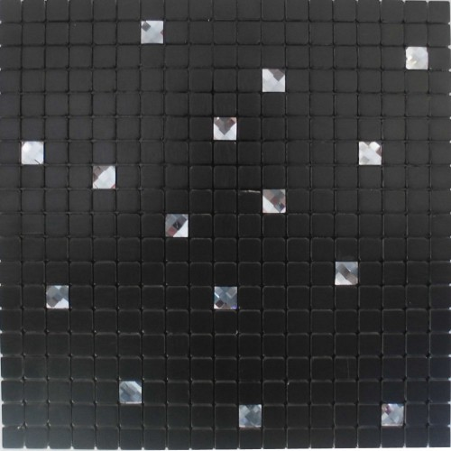 Black peel and stick wall tiles adhesive mosaic sheets metal glass diamond tile aluminum composite panel alucobond tiles MAMH15