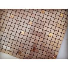 metal glass mosaic brushed aluminum alucobond tile kitchen backsplash wall tiles ACP MH-18 glass diamond mosaics bathroom tiles