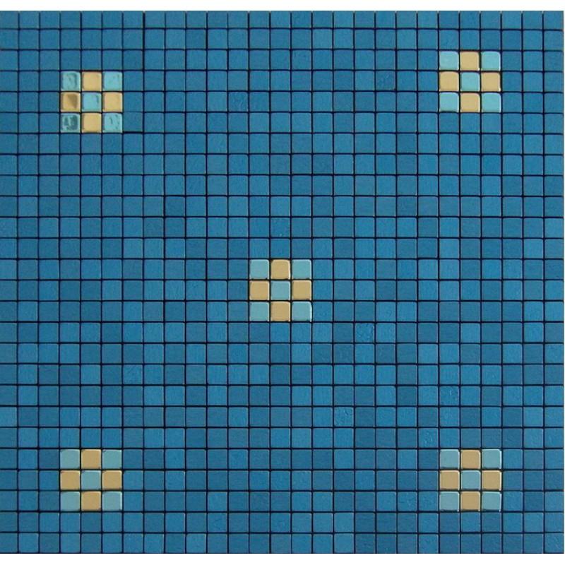 Metallic mosaic tile backsplash blue Aluminum tiles bathroom floor ...