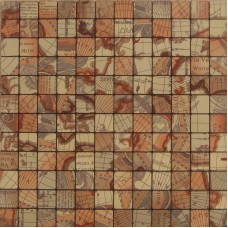 Brown alucobond tile self-sticker ACP aluminum mosaic art kitchen backsplash tiles wall stickers ALT25