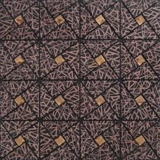 classical laser aluminum alucobond tile metal glass diamond mosaic kitchen backsplash ACP MH-ASJ-001 triangle crystal mosaics bathroom wall tiles