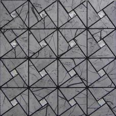 Peel and stick wall tiles aluminum alucobond tile self-sticker adhesive metal glass diamond mosaic sheets pinwheel patterns backsplash ASJ002
