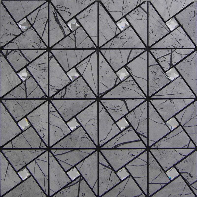 L And Stick Wall Tiles Aluminum Alucobond Tile Self Sticker Adhesive Metal Gl Diamond Mosaic