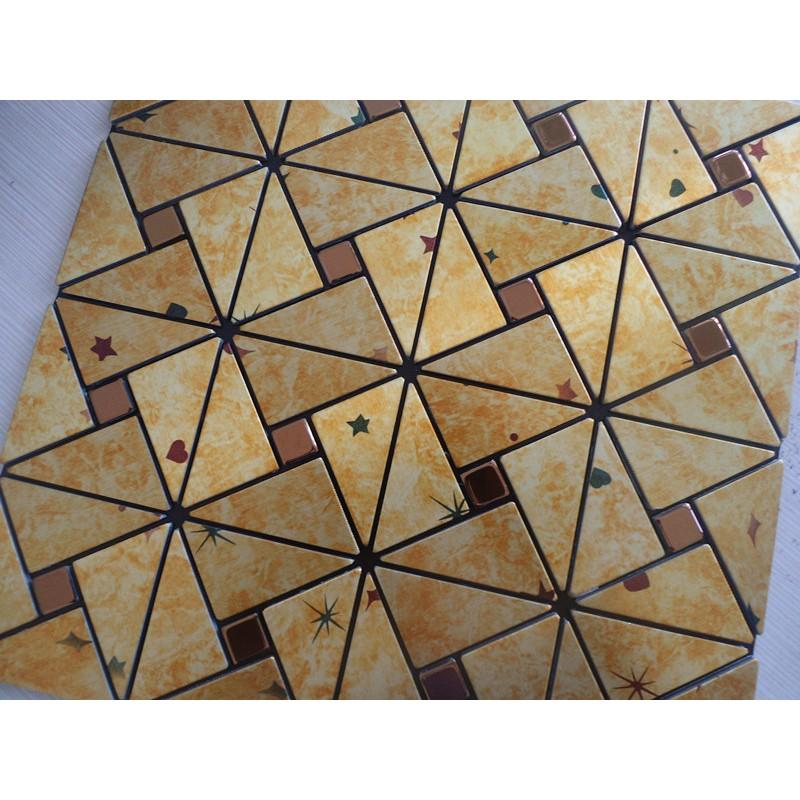 Gold Aluminum Alucobond Tile Kitchen Backsplash ACP Metal
