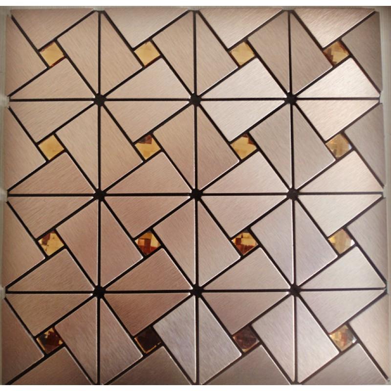 Metal Glass Mosaic Diamond Brushed Aluminum Alucobond Tile