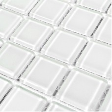 Glass Mosaic Tile Backsplash for Decorative Materials Square Super White Crystal Kitchen Wall Tiles Bathroom Shower Tile MH070