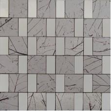 metallic mosaic alucobond tile kitchen backsplash wall tiles aluminum ACP material MH650 rectangle metal bathroom tiles