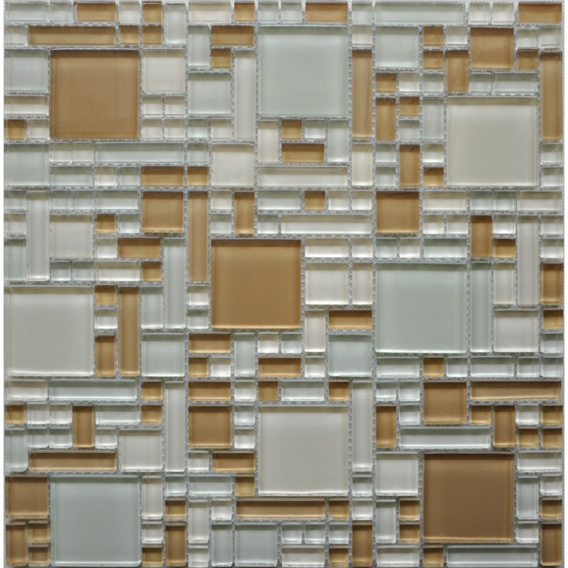 crystal glass mosaic tiles sheet wall stickers kitchen