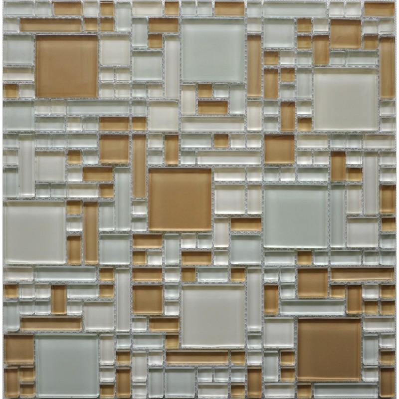 glass mosaic tiles sheet wall stickers kitchen backsplash tile cheap