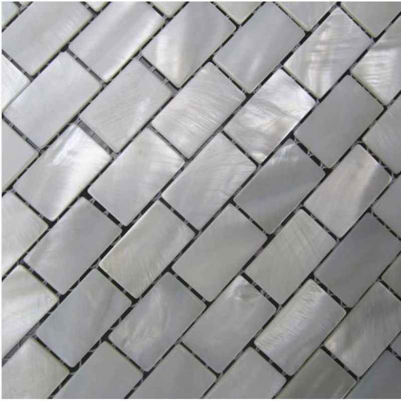 White Shell Subway Tile Mother Of Pearl Fresh Water