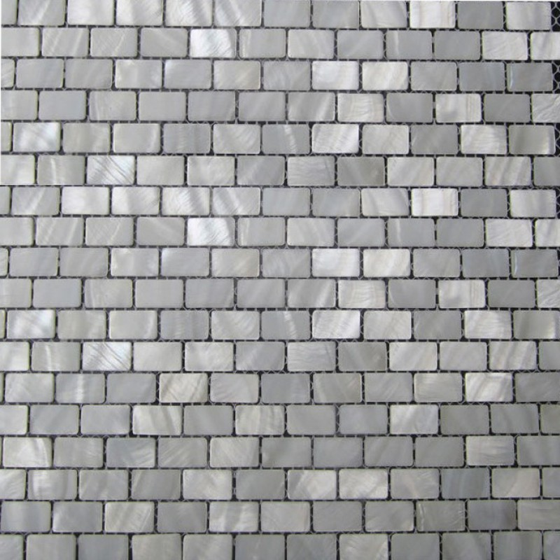 Seashell Backsplash Tile: White Shell Subway Tile Mother Of Pearl Fresh Water