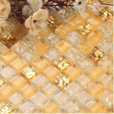 Crystal Glass Mosaic Sheet N009 Wall Kitchen Backsplash Tile Cheap Floor Stickers Design Bathroom Shower Pool Transparent