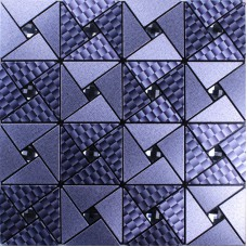 Metal glass diamond tile peel and stick wall tiles adhesive mosaic sheets cheap aluminum composite panel pinwheel patterns MAN105