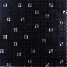 Metallic Mosaic Tile Glass Diamond Adhesive Tile Crystal Backsplash Wall Tiles stickers brushed Metal mix Glass Tile Mosaic N114
