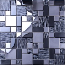 Crystal Mosaic Tiles Random Metal Coating Mosaics Tiles Mesh Mounted Tile Sheet Kitchen Wall Backsplash Washroom Bathroom N137