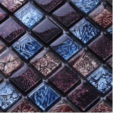 Glass Mosaic Tiles patterns Crystal Glass Tile sheets Kitchen Backsplash Tile Mosaic art designs Bathroom Wall stickers N149