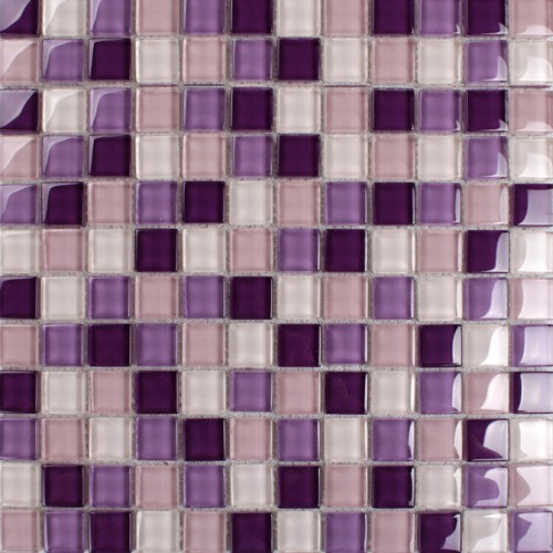 Purple glass mosaic tiles backsplash kitchen bathroom wall and floor crystal glass tile flooring shower designs KLNT165