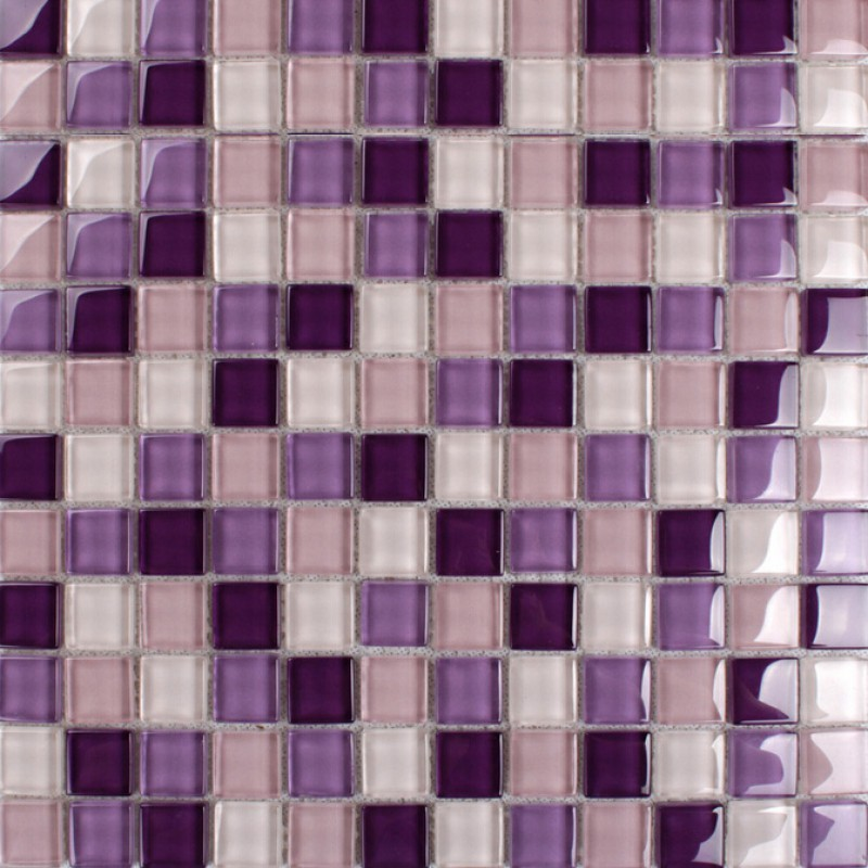 Purple Glass Mosaic Tiles Backsplash Kitchen Bathroom Wall And