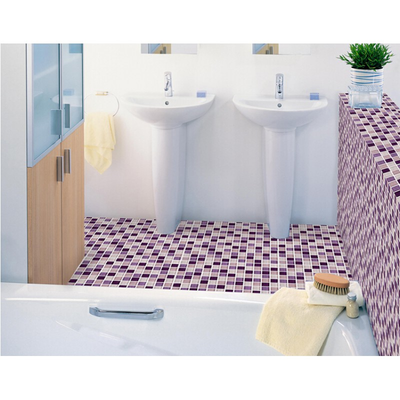 ... Purple Glass Mosaic Tiles Backsplash Kitchen Bathroom Wall And Floor  Crystal Glass Tile Flooring Shower Designs