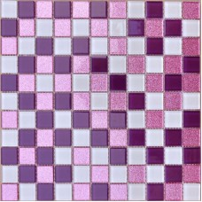 Crystal glass mosaic sheets purple wall stickers kitchen backsplash ideas floor mirror designs bathroom tile shower CGT562