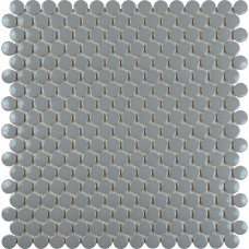 Porcelain tile backsplash penny round mosaic glazed ceramic tile stickers PM103 gray kitchen porcelain tile flooring designs
