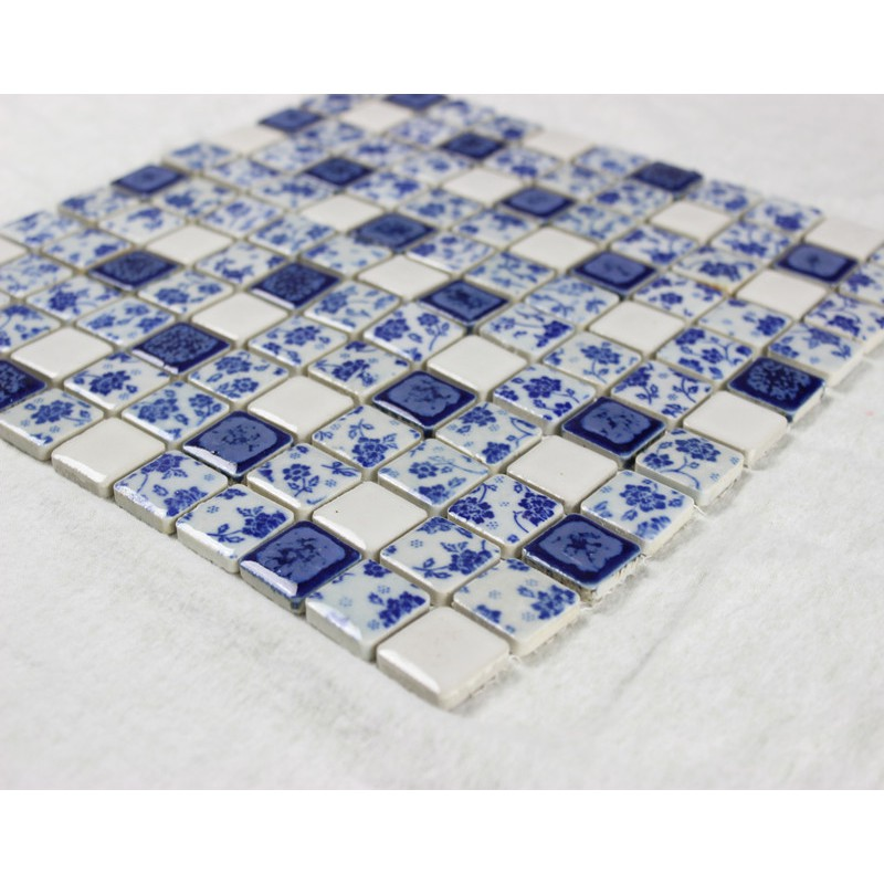 Porcelain Tile Glazed Mosaic Wall Stickers Kitchen Backsplash Tiles Qw633 1 Inch Ceramic Tiles