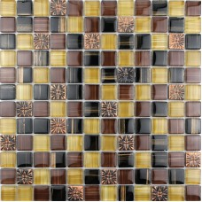 Glass tile backsplash hand painted Crystal mosaic tile embossed patterns resin S018 Kitchen backsplash tiles Bathroom wall tiles
