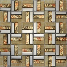 Natural stone mosaic wall tile sheets rectangle jade and glass tiles for kitchen and bathroom cheap backsplash marble floor tiles SGS228