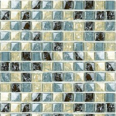 crack glass mosaic tile sheets modern fashion kitchen backsplash crackle crystal glass tile S309 bathroom shower wall tiles