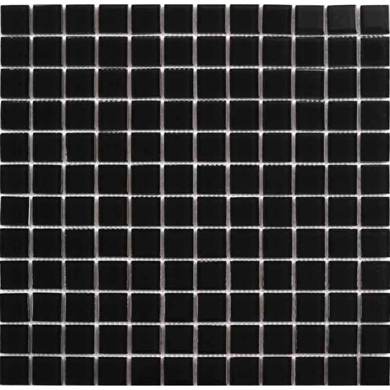 Black Glass Mosaic Tile Glass Decorating Ideas