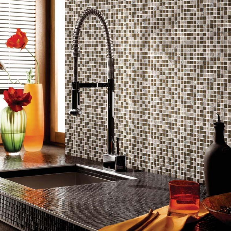 Crystal Glass Tile Backsplash Stone U0026 Glass Blend Mosaic Tiles Bathroom Wall  Backsplash Tile Mirrored Wall Border ...