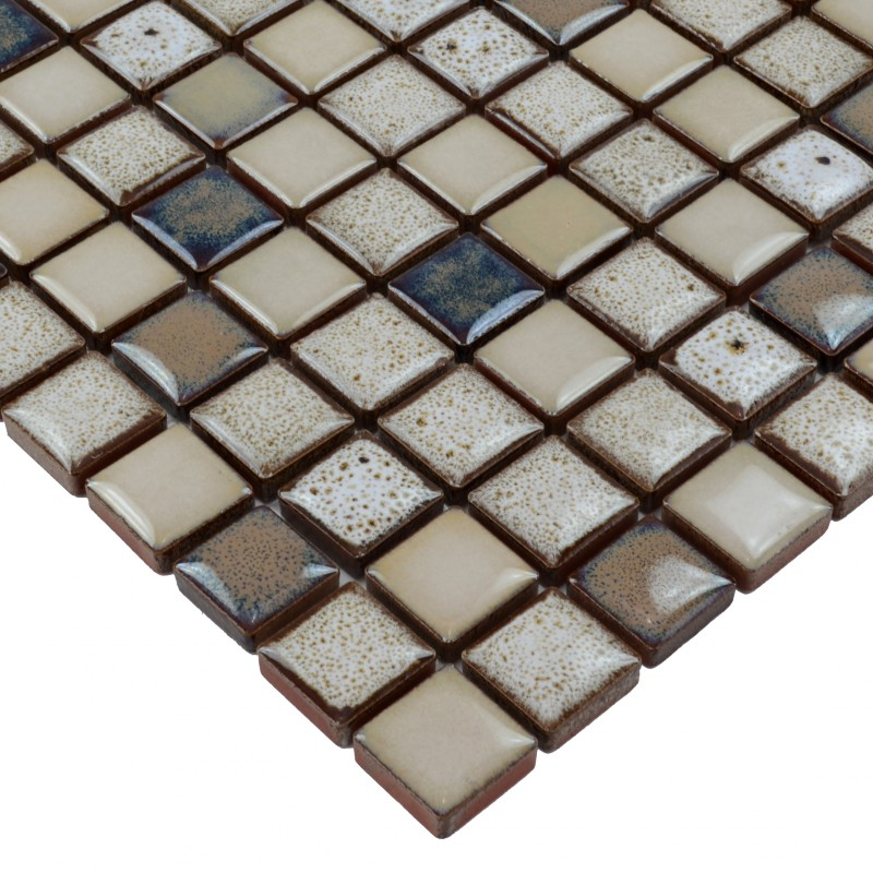 Backing Porcelain Mosaic Tiles Stone Era Glazed Pebble Tile For