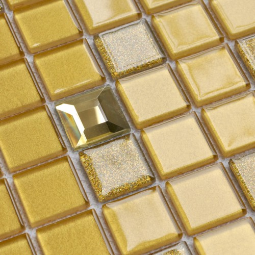 Crystal Glass Mosaic Tile Sheet  Wall Stickers Kitchen Backsplash Tile Cheap Floor Stickers Design Bathroom Shower Pool SFM003