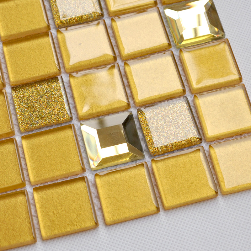 Crystal Gl Mosaic Tile Sheet Wall Stickers Kitchen Backsplash Floor Design Bathroom Shower