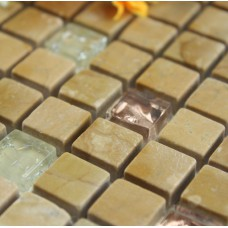 Stone Mosaic Tile sheet Kitchen Backsplash Wall sticker Crackle Crystal Glass Bathroom Flooring Marble Backsplash Tiles SGS2013-2