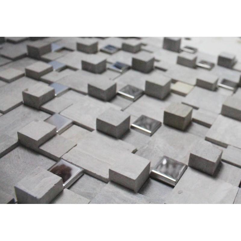 Stone Mosaic Sheets Kitchen Backsplash Wall Sticker Stainless Steel Bathroom Floor Tile Marble Backsplash Tiles Stainless
