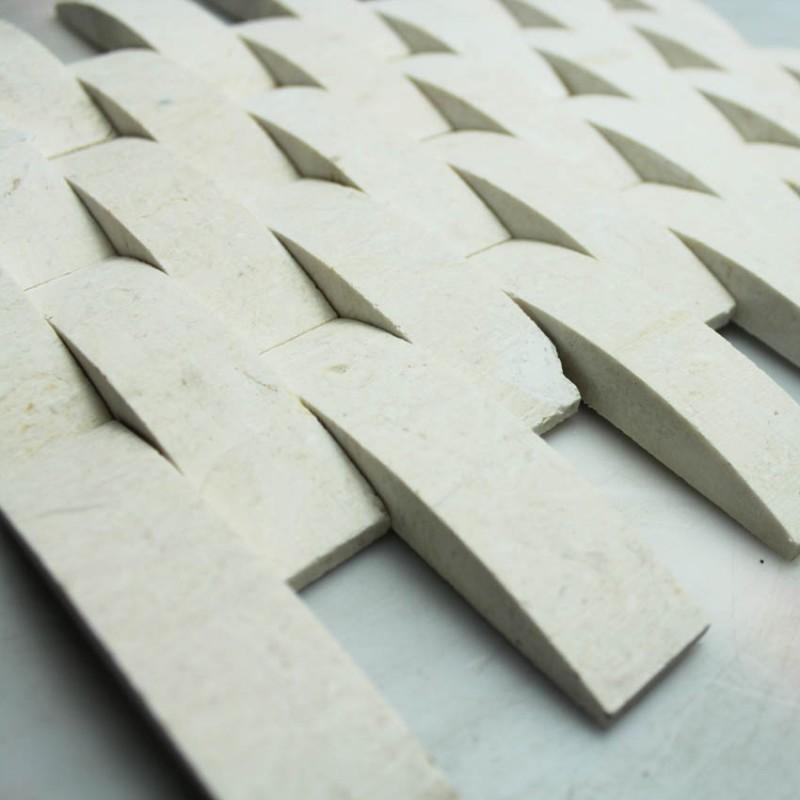 Stone Mosaic Tile Arched Kitchen Backsplash Wall Sticker Bridge Bathroom Flooring Tile Yellow Marble Backsplash Tiles