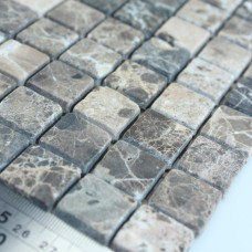 Stone Mosaic Tile Deep Emperador Kitchen Backsplash Wall sticker Bathroom Flooring Marble Backsplash Tiles SGS58-20B