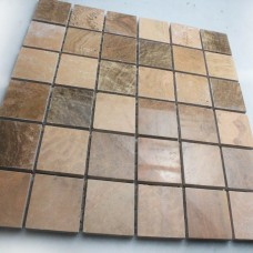 Stone Tiles Mosaic Tile Brown Kitchen Backsplash Wall sticker Mosaic fireplace border Natural Marble Backsplash Tile SGS76-2525B