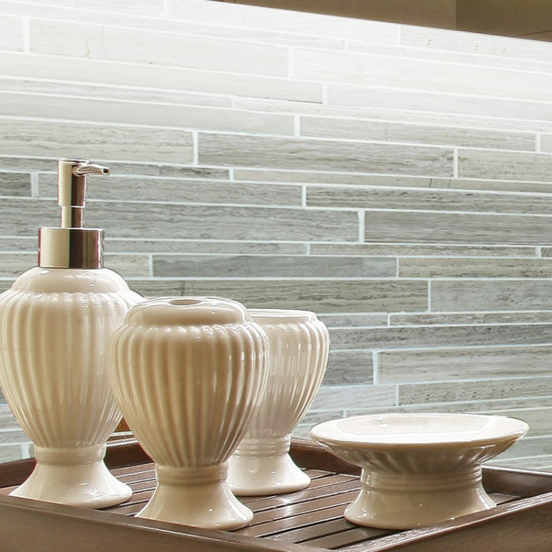 Kitchen Backsplash Stone mosaic tile sheets kitchen backsplash wall sticker mosaic stone