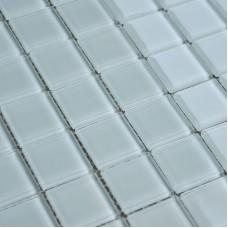 Crystal Glass Mosaic Sheet  Tile Wall Kitchen Backsplash Tile White Floor Stickers Design Bathroom Shower Pool Tile SJB001