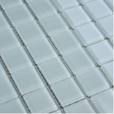 Crystal Glass Mosaic Sheet  Tile Wall Kitchen Backsplash Tile White Floor Stickers Design Bathroom Shower Pool Tile SJB001