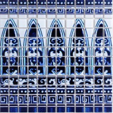 Wholesale Crystal Glass Mosaic Tiles Design Wall Mirrored Tiles Blue & White Tile Sticker Kitchen Backsplash Floor Pattern SM113