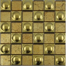 ceramic mosaic sheet Gold porcelain tile kitchen backsplash tiles bathroom mirrored wall PJGJ684 TV background Tiles Bar floor tile designs