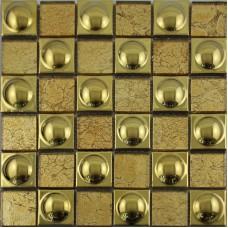 Glass mosaic tile backsplash metal coating ceramic tile stickers kitchen porcelain tile brick SPA480609 crystal glass wall tiles