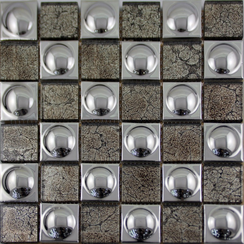 mosaic sheet Silver porcelain tile kitchen backsplash tiles
