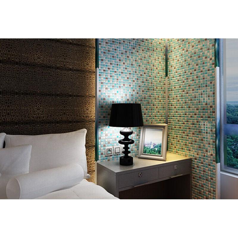 crackle glass mosaic tile backsplash cheap stainless steel crystal glass metal wall tiles sps29 blue bathroom shower mosaic bedroom walls - Metal Tile Bedroom Design