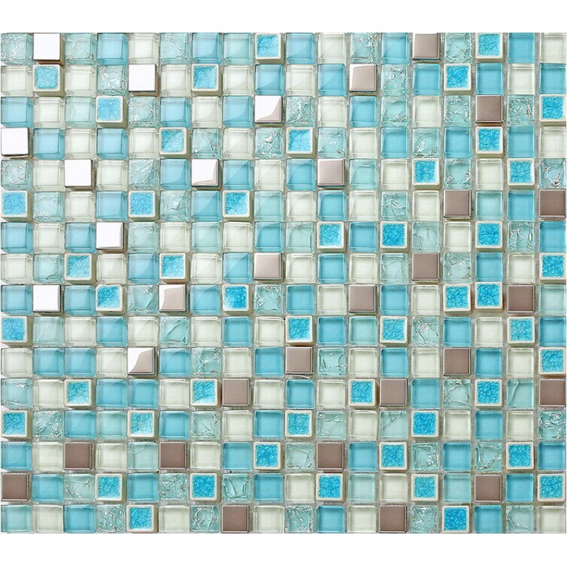 glass mosaic tile backsplash cheap stainless steel crystal glass