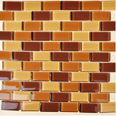 Glass Mosaic Tile sheets Crystal Glass Tile brick Kitchen Backsplash Tiles Mosaic Glass designs Bathroom Wall stickers SSZ9