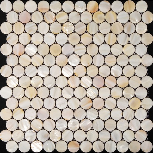 Penny round mother of pearl tile backsplash for kitchen and bathroom shower wall tiles design cheap white shell mosaic tile sheets ST007